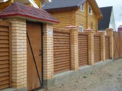 Заборы деревянные