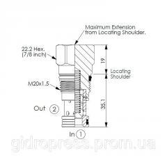 Картриджный клапан CV-13A-20-20-N