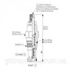 Картриджный клапан RP-10A-20-W-K