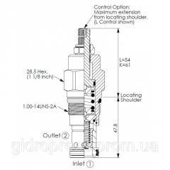 Картриджный клапан RP-3A-20-W-L