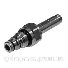 Клапан переливной (патронный), нормально закрыт в одну сторону (NC), 70 л/мин, открывает в обе стороны