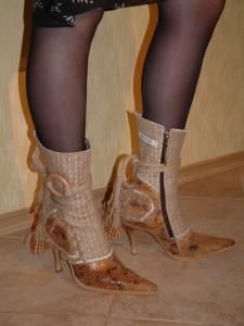 Обувь из мешковины модель деревянная (фурнитура)