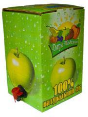 Juice natural, juice natural yablochniya,