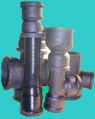 Части фасонные к чугунным канализационным трубам