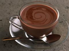 Chocolate dessert, hot chocolate