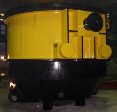 Ladle stalerazlivochny with a capacity of 140 tons