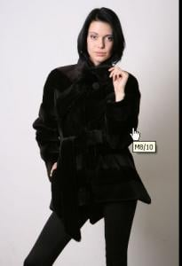 Short coat from fur of mink Colour - skanbraun