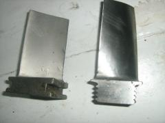 Shovels and blades for gas and steam turbines,