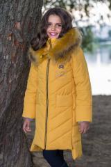 Беренис комплект пальто горчица р.140-158
