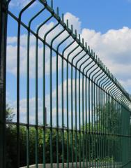 Забор секционный из сетки 3Д