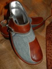 Туфли мужские Джинсовый-Клапан на заказ, Киев