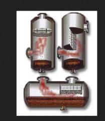Spray traps fibrous