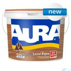 Декоративно-защитное средство для древесины Aura Lasur Aqua 9л