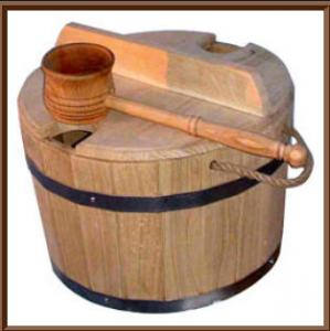 Cooper's products from an oak for baths and