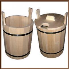 Ведро деревянное от производителя, деревянное