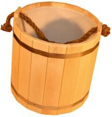 Bucket wooden, bucket oak