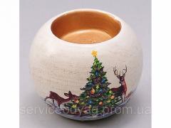 Ceramic candlestick 6.5 cm, Art. 254-V59