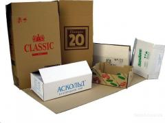 Production of packing, production of boxes,