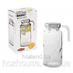 "Jug with plastic cover ""Basic"" 1.3 l ""Pasabahce"""