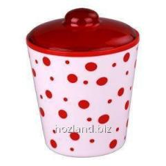 "Bank for sypuuchih ""polka dot"" 1LT with roofs. (red-white) PSU"