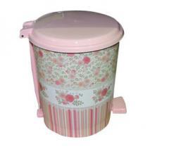 """Ведра с педалью (6л,10л,16л) с рисунком Розовый ситец """"ELIF"""""""