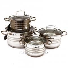 A set of saucepans FRICO 693 (2.1/2.9/3.9/6, 5 l)