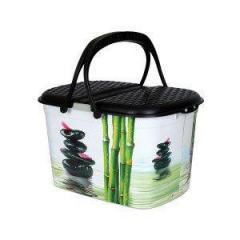 Корзина Пикник с рисунком Бамбук ELIF
