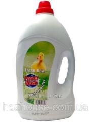 Кондиционер-ополаскиватель 4л  Fresh Dew зеленый