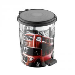 """Ведра с педалью 16 л. с рисунком Лондон автобус """"ELIF"""""""