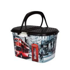 Корзина Пикник с рисунком Лондон автобус ELIF