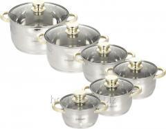 Посуда Maestro 12 предметов золото