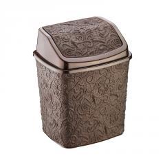 Ведро для мусора 5л ажурное коричневое ELIF