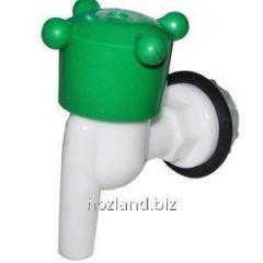 Кран водозапорный пластиковый