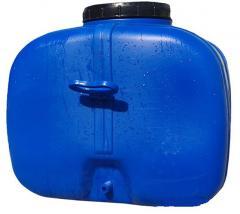 Бак пластиковый прямоугольный синий пищевой 125л ПластБак
