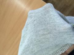 Fire-resistant knitted cloth Twaron metaaramid
