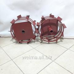 Колеса с грунтозацепами 400/160 (10*10) МБ С ПОЛУОСЬЮ 32мм