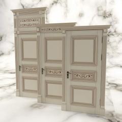 Деревянная дверь под лак Арт. Л02
