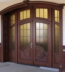 Деревянная дверь двустворчатая Арт. Д02