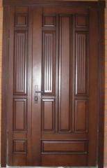 Деревянная дверь двустворчатая Арт. Д03