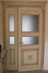 Деревянная дверь двустворчатая Арт. Д04