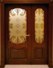 Деревянная дверь двустворчатая Арт. Д05