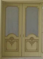 Деревянная дверь двустворчатая Арт. Д06
