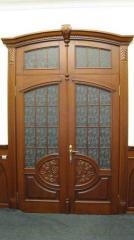 Деревянная дверь двустворчатая Арт. Д07