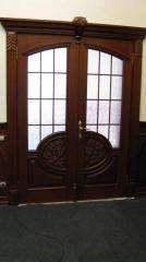 Деревянная дверь двустворчатая Арт. Д08