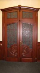 Деревянная дверь двустворчатая Арт. Д09