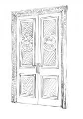 Двери межкомнатные двойные деревянные 04