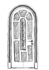 Дверь межкомнатная деревянная 06 - эскизный вариант