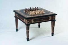 Шахматный стол Черный кельт