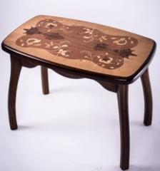 Poisson rouge table basse-tabouret