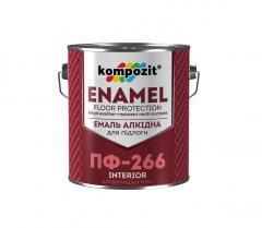 Эмаль для пола Kompozit ПФ-266 0, 9 кг...